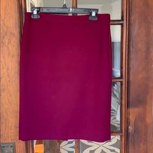 J.Crew No.2 pencil skirt double-serge wool